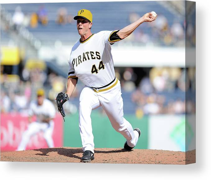 Pnc Park Canvas Print featuring the photograph Tony Watson by Joe Sargent