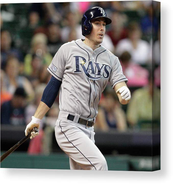 Second Inning Canvas Print featuring the photograph Tampa Bay Rays V Houston Astros by Bob Levey