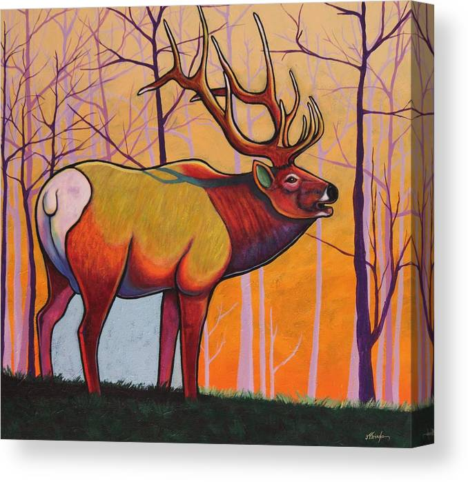 Wildlife Canvas Print featuring the painting Eternal Warrior by Joe Triano