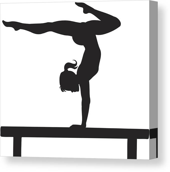 Child Canvas Print featuring the drawing Gymnastics by Zaricm