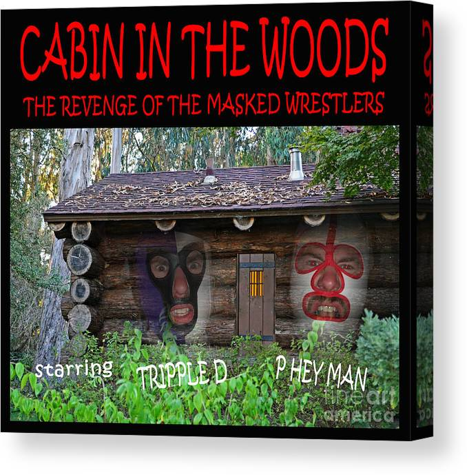 Pro Wrestling Horror Movie Cabin In The Woods Canvas Print Canvas Art By Jim Fitzpatrick