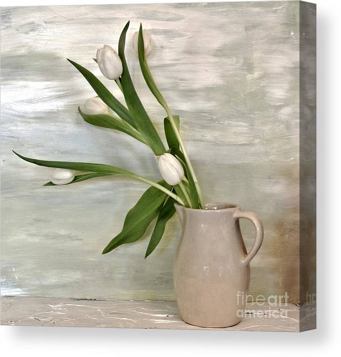 Photo Canvas Print featuring the painting Tulips Dancing by Marsha Heiken