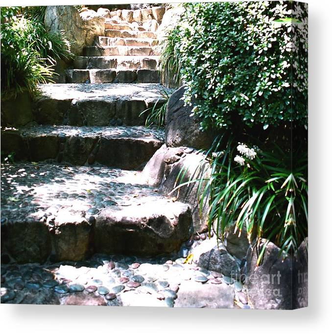 Stairs Canvas Print featuring the photograph A Way Out by Dean Triolo