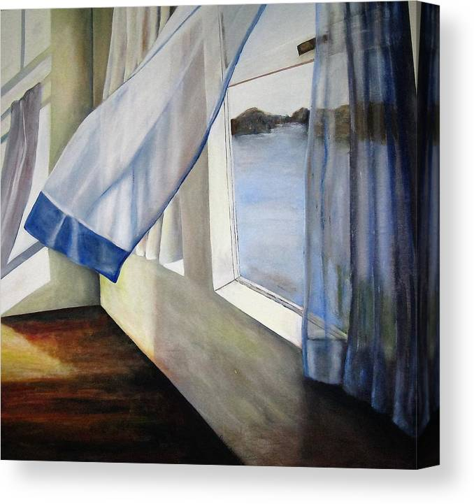 Landscape Canvas Print featuring the painting Cindy's Window by Eileen Kasprick