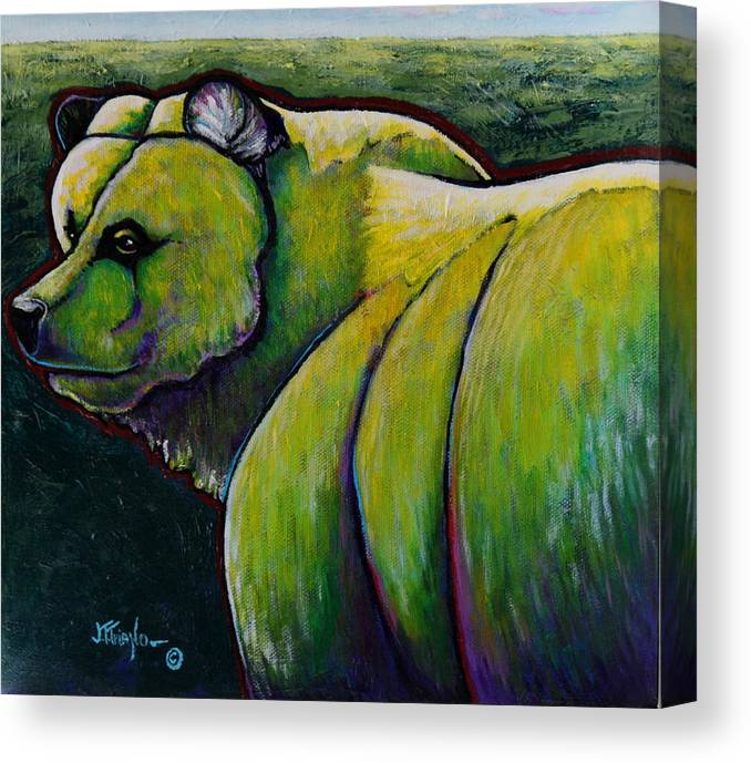 Wildlife Canvas Print featuring the painting He Has Little to Fear by Joe Triano
