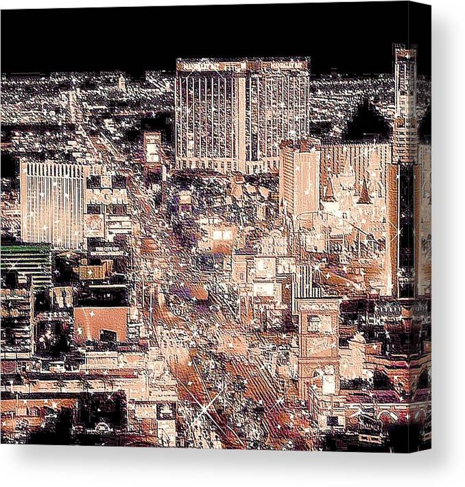 Las Vegas Canvas Print featuring the photograph Las Vegas Never Sleeps by Molly Hanani