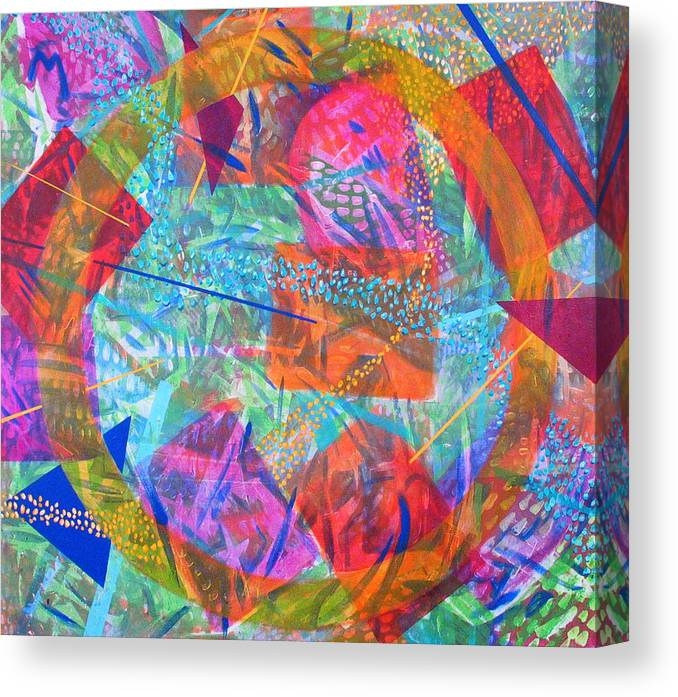 Abstract Canvas Print featuring the painting Microcosm IV by Rollin Kocsis
