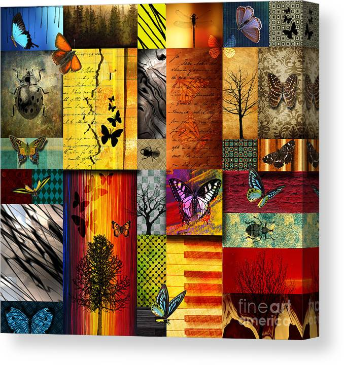 Alpine Canvas Print featuring the painting The Butterfly effect by Ramneek Narang