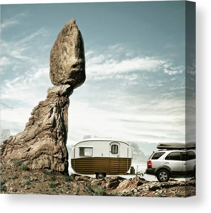 Camping Canvas Print featuring the photograph Careless Camping by Colin Anderson