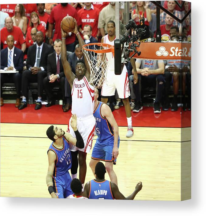 Playoffs Canvas Print featuring the photograph Clint Capela by Nathaniel S. Butler
