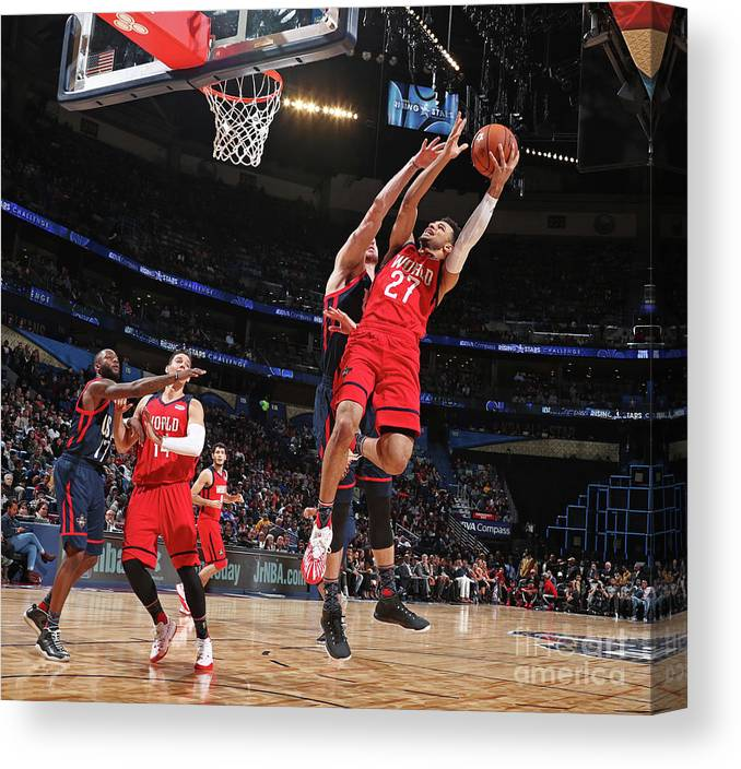 Event Canvas Print featuring the photograph Jamal Murray by Nathaniel S. Butler