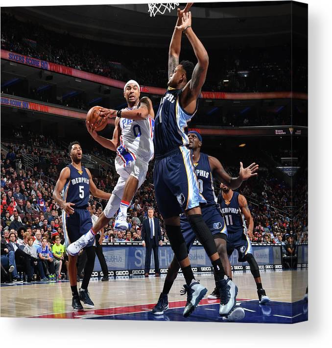 Nba Pro Basketball Canvas Print featuring the photograph Jerryd Bayless by Jesse D. Garrabrant