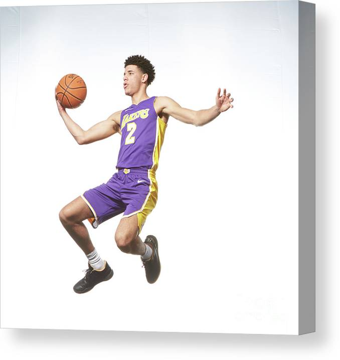 Nba Pro Basketball Canvas Print featuring the photograph Lonzo Ball by Nathaniel S. Butler