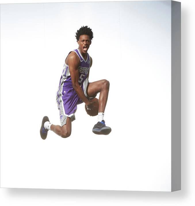 Nba Pro Basketball Canvas Print featuring the photograph De'aaron Fox by Nathaniel S. Butler