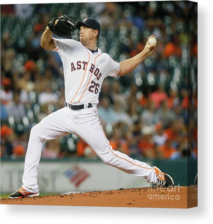 People Canvas Print featuring the photograph Scott Kazmir by Bob Levey