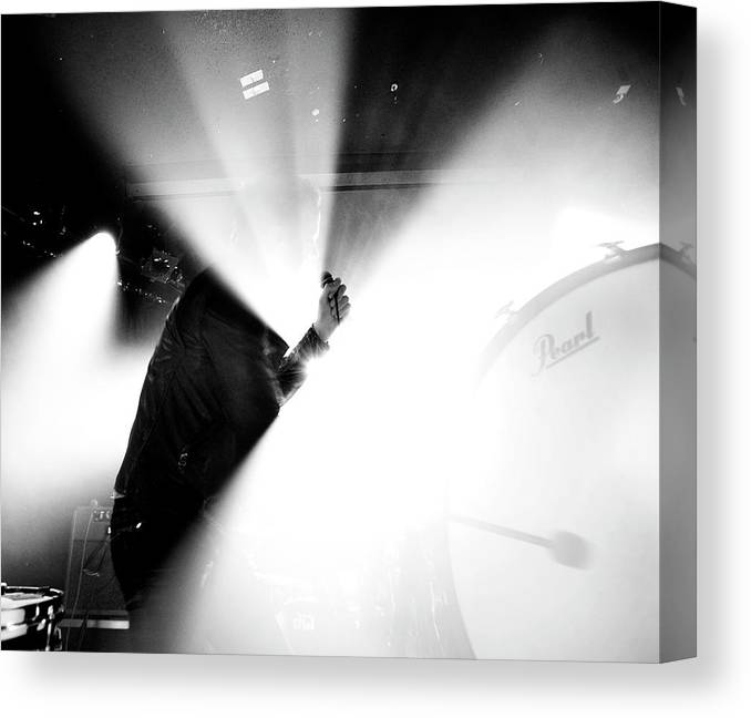 Guitarist Canvas Print featuring the photograph Imagine Dragons At The Viper Room by Stephen Albanese