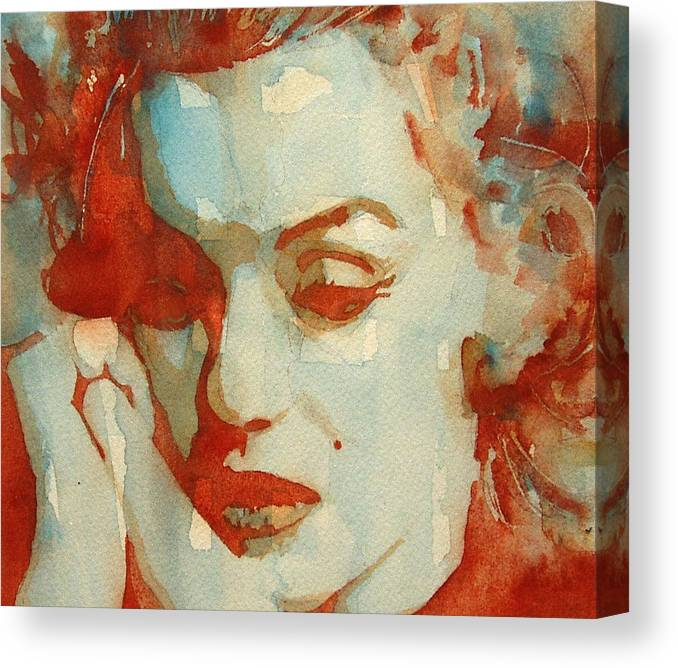 Marilyn Monroe Canvas Print featuring the painting Fragile by Paul Lovering