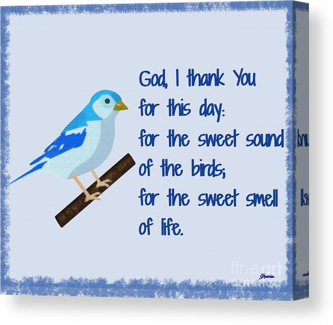 God I Thank You For This Day Canvas Print featuring the painting God I Thank You for This Day by Pharris Art