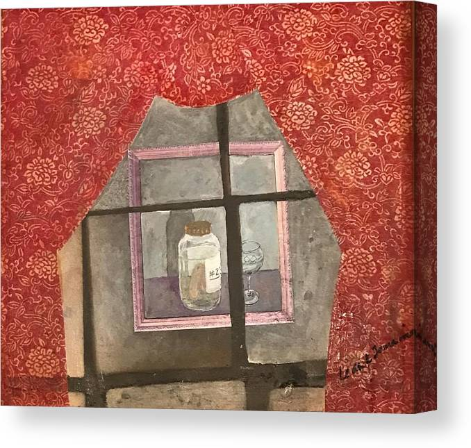 Abstract Canvas Print featuring the painting A Toast by Leah Tomaino