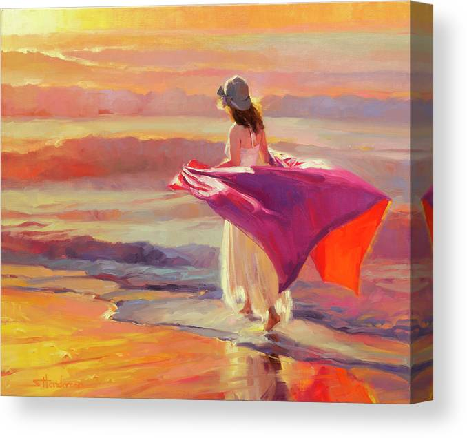 Coast Canvas Print featuring the painting Catching the Breeze by Steve Henderson