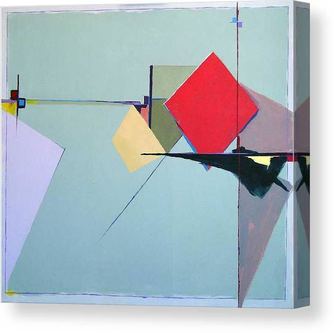 Abstract Canvas Print featuring the painting Chance Encounters by Marston A Jaquis