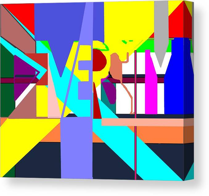 Diversity Canvas Print featuring the digital art Diversity Enmeshed by Pharris Art
