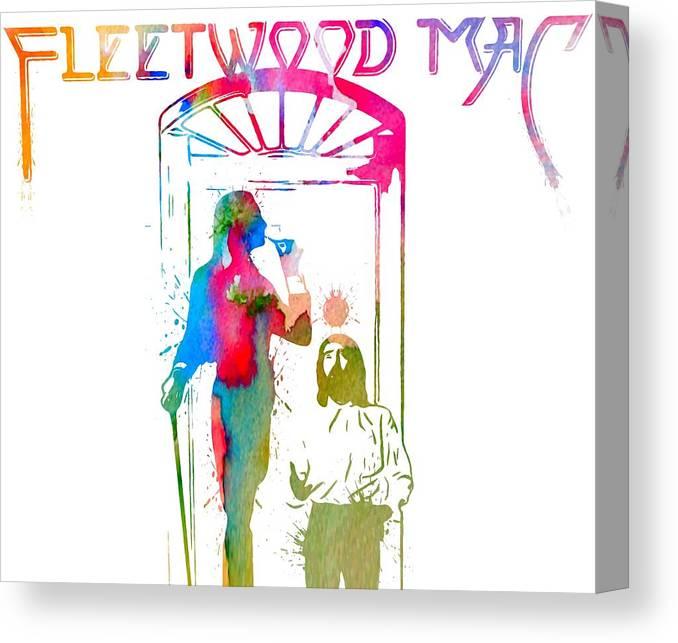 Fleetwood Mac Album Cover Watercolor Canvas Print featuring the digital art Fleetwood Mac Album Cover Watercolor by Dan Sproul