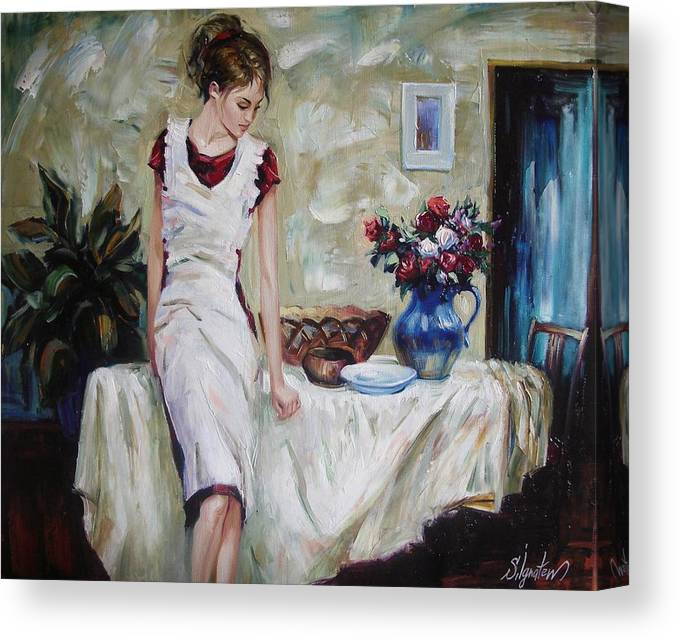 Figurative Canvas Print featuring the painting Just the next day by Sergey Ignatenko