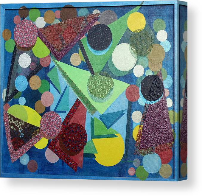 Abstract Canvas Print featuring the painting Movement by Naomi Gerrard