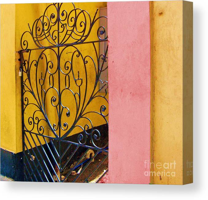 Gate Canvas Print featuring the photograph St. Thomas Gate by Debbi Granruth