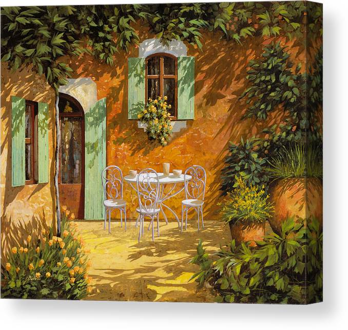 Quiete Canvas Print featuring the painting Sul Patio by Guido Borelli