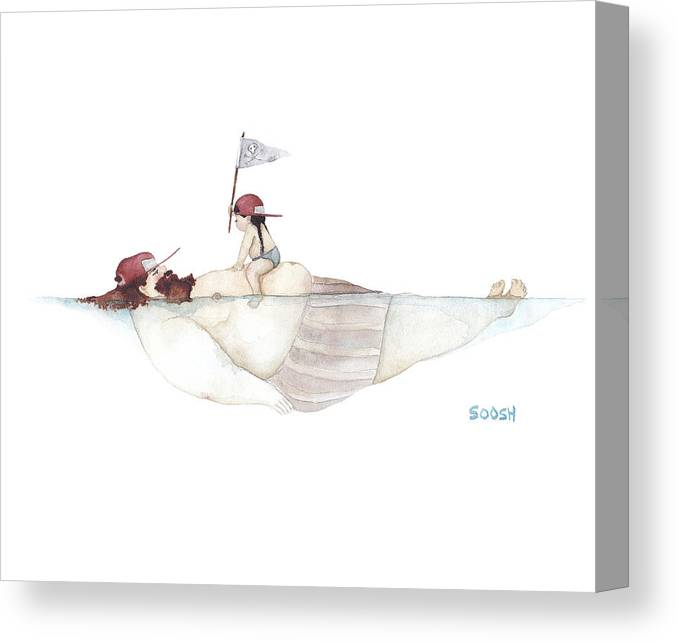 Father Canvas Print featuring the painting Yo Ho Ho by Soosh