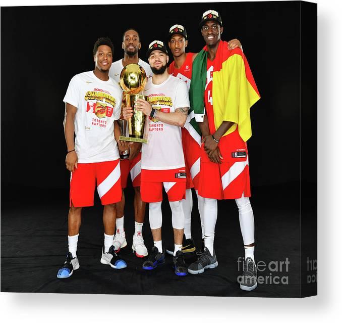 Playoffs Canvas Print featuring the photograph 2019 Nba Finals Portraits by Jesse D. Garrabrant