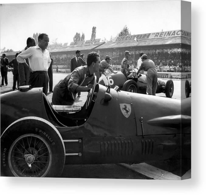 Horse Canvas Print featuring the photograph Racing Ferrari by Ronald Startup