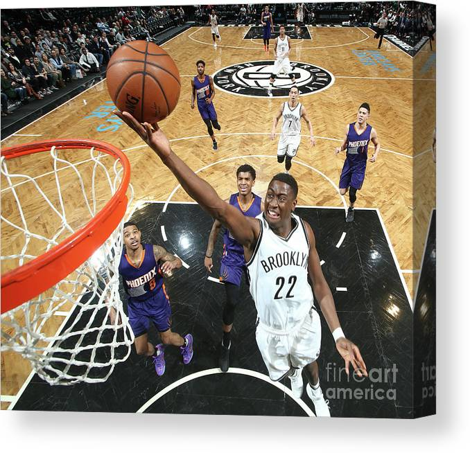Nba Pro Basketball Canvas Print featuring the photograph Caris Levert by Nathaniel S. Butler