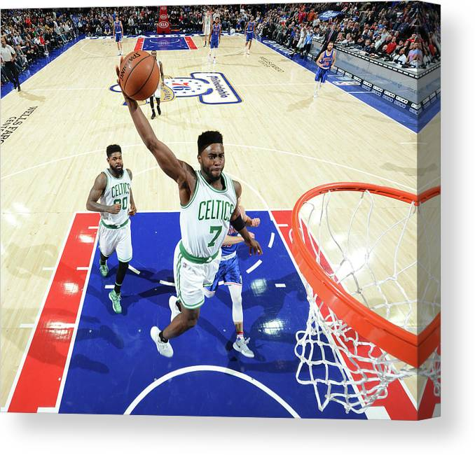 Nba Pro Basketball Canvas Print featuring the photograph Jaylen Brown by Jesse D. Garrabrant