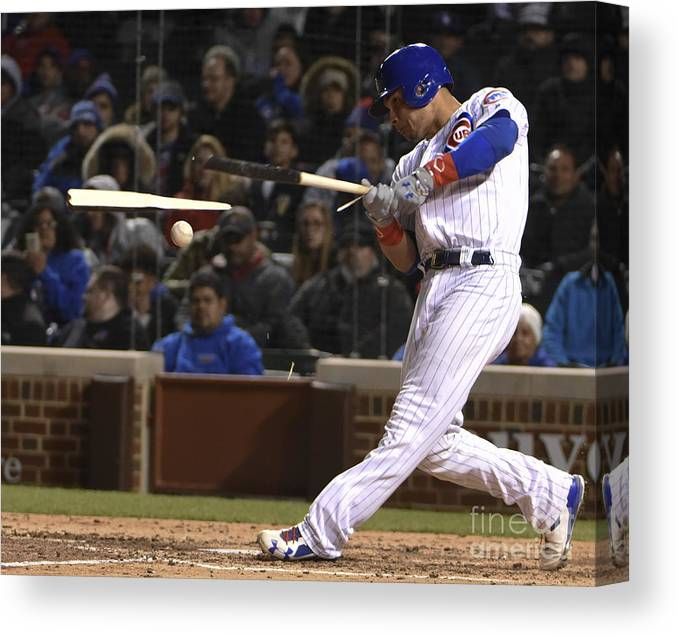 People Canvas Print featuring the photograph Willson Contreras by David Banks