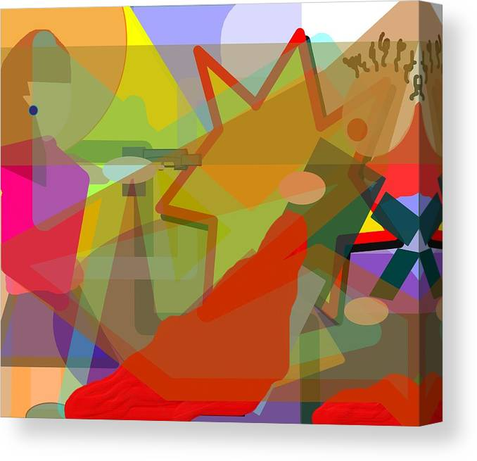 Abstract Canvas Print featuring the digital art Assassin by Pharris Art