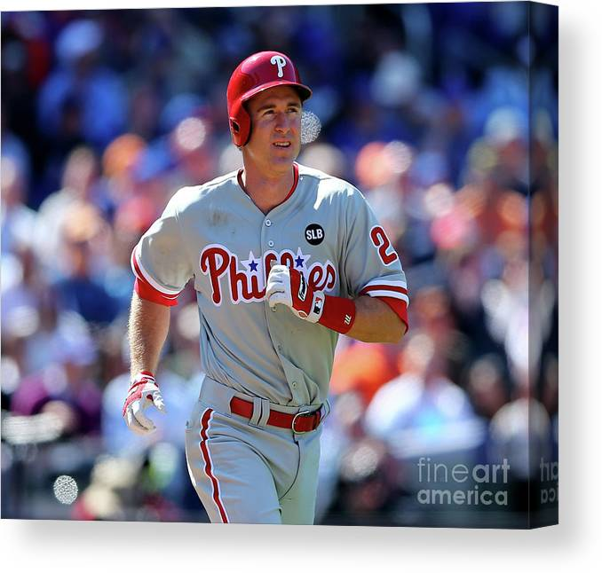 Three Quarter Length Canvas Print featuring the photograph Chase Utley by Elsa