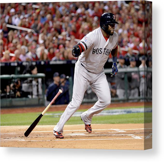 Playoffs Canvas Print featuring the photograph David Ortiz by Ron Vesely