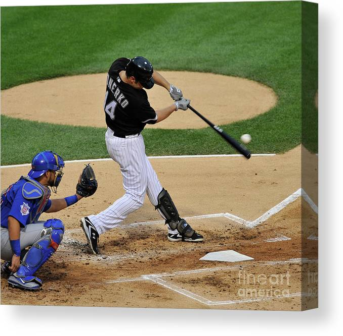 People Canvas Print featuring the photograph Paul Konerko by David Banks
