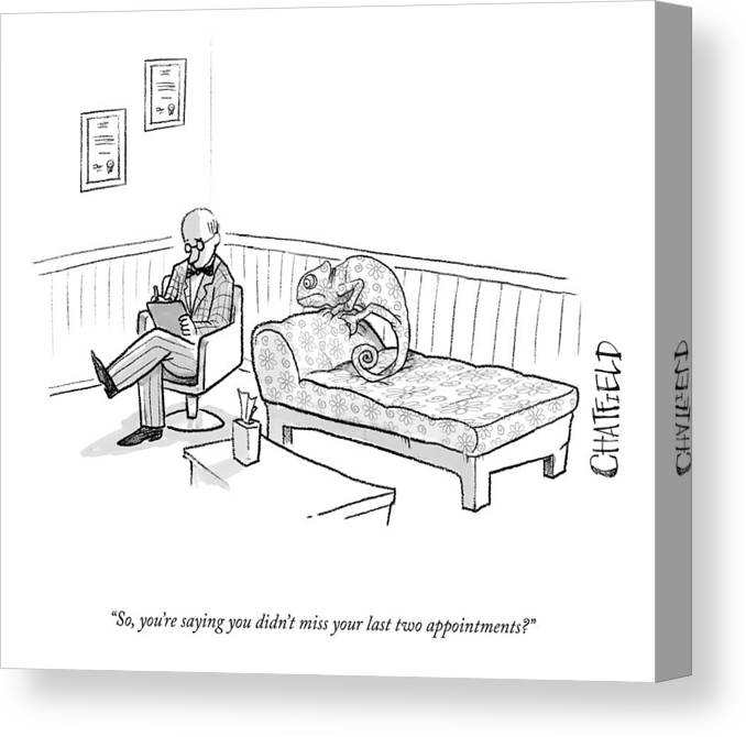 Cctk Canvas Print featuring the drawing Your Last Two Appointments by Jason Chatfield