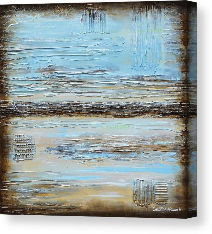 Paintings Canvas Print featuring the painting Serenity by Christine Bell
