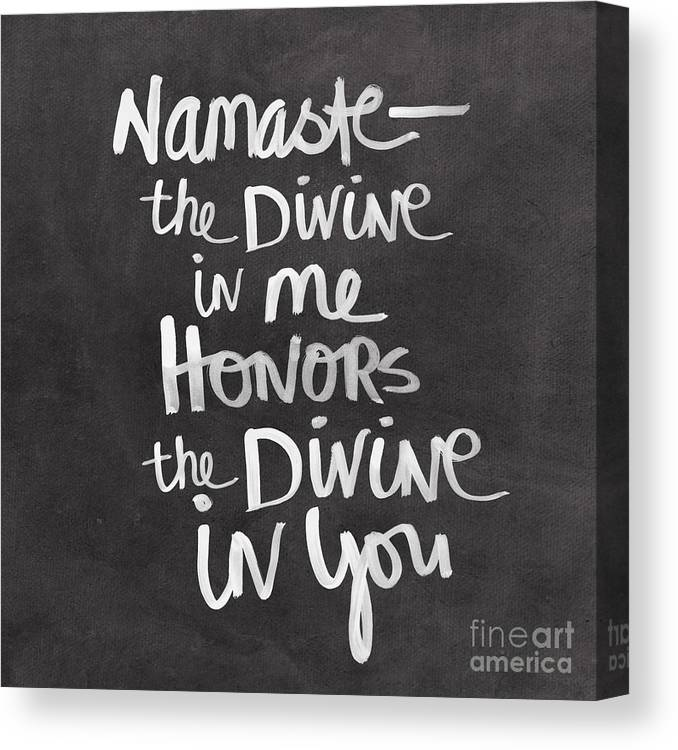 Namaste Canvas Print featuring the painting Namaste by Linda Woods