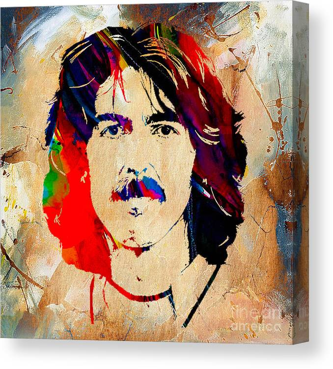 George Harrison Art Canvas Print featuring the mixed media George Harrison Collection by Marvin Blaine