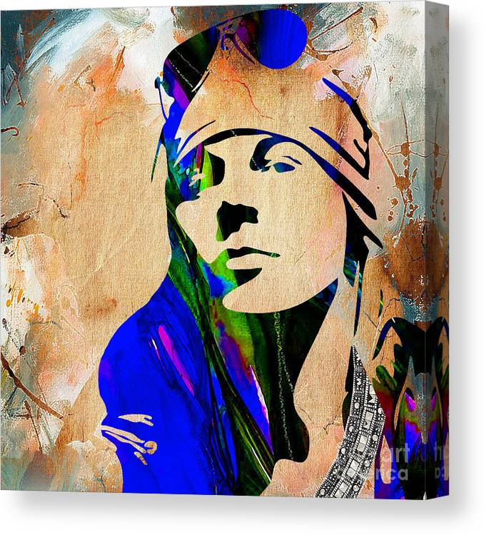 Axl Rose Canvas Print featuring the mixed media Axl Roxe Collection by Marvin Blaine