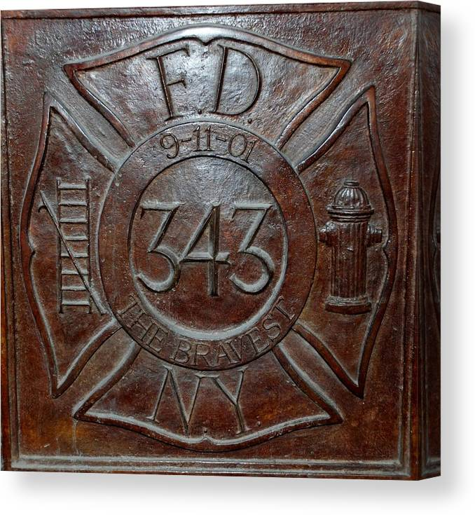Fdny Canvas Print featuring the photograph 9 11 01 F D N Y 343 by Rob Hans