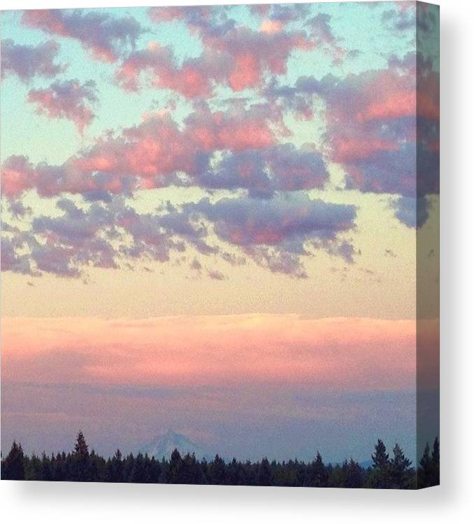 Clouds Canvas Print featuring the photograph Summer Evening Under A Cotton by Blenda Studio