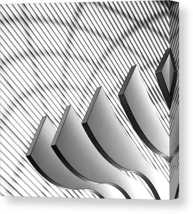 Shadow Canvas Print featuring the photograph Architectural Abstract 4 - Interior Of by Lubilub