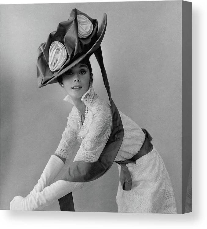 Actress Canvas Print featuring the photograph Audrey Hepburn In Costume For My Fair Lady by Cecil Beaton